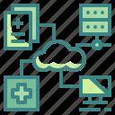 computer, data, healthcare, medical, technology icon