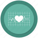 health, heart, medical, pulse icon