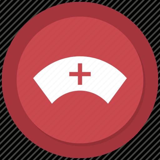 cap, hat, nurse, user icon