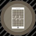analytics, diagram, ecg, ekg, medicine, mobile, pulse