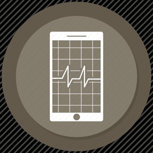 Analytics, diagram, ecg, ekg, medicine, mobile, pulse icon - Download on Iconfinder