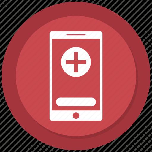 analytics, diagram, medical sign, medicine, mobile, pulse icon