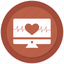 analytics, diagram, ecg, ekg, heart, medicine, monitor icon