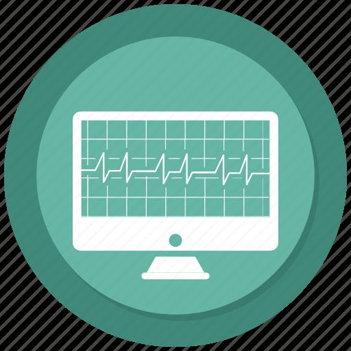 Analytics, diagram, ecg, ekg, medicine, monitor, pulse icon - Download on Iconfinder