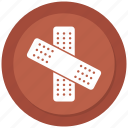 band aid, bandage, treatment icon
