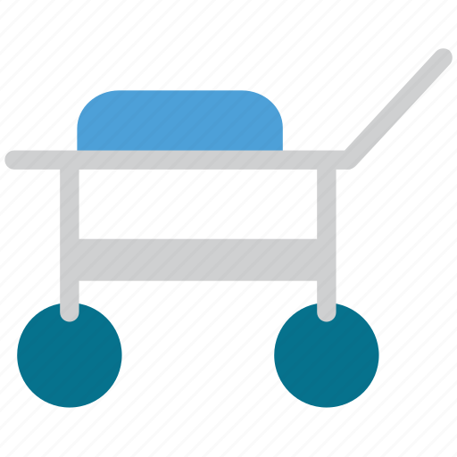 cart, hospital, medical, trolley icon