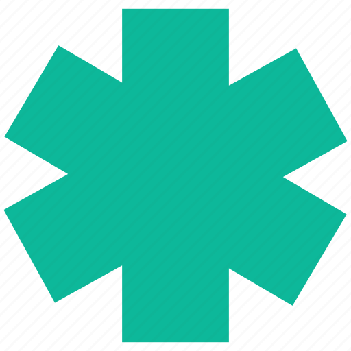 help, life, star of life, support icon