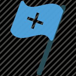 assistance, flag, medical, medical flag icon