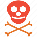 danger, death, skull, warning icon