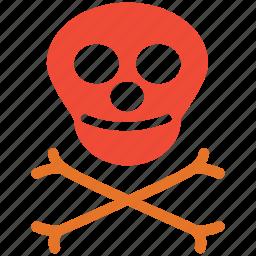 danger, death, skull, warning icon