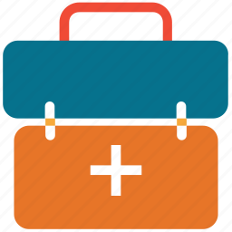 first aid bag, first aid kit, help, medical bag icon