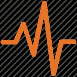 heartbeat, lifeline, pulsation, pulse rate icon