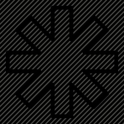 asterisk, health, healthcare, hospital, medical icon
