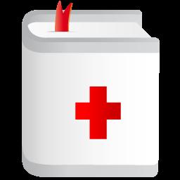 book, medicine, reportorium icon