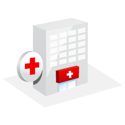emergency, emergency room, hospital icon
