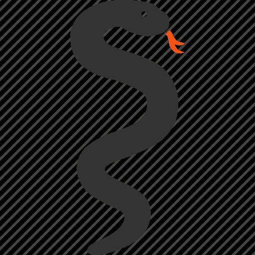 caduceus, medical, medicine, poison, reptile, snake, wildlife icon