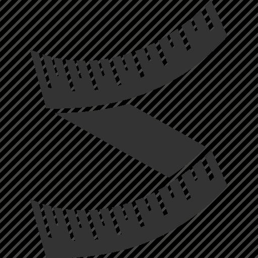 centimeter, measurement, ruler, scale icon