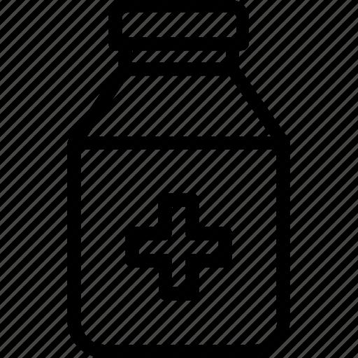 liquid medicine, medication, pharmacy, syrup, syrup bottle icon