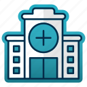 building, construction, doctor, emergency, healthcare, hospital icon