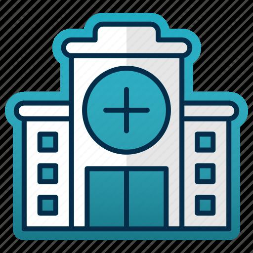 building, construction, doctor, emergency, healthcare, hospital icon