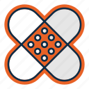 aid, healthcare, medicine, patch, pharmacy, treatment icon