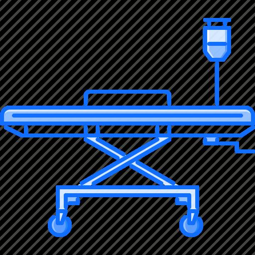 bed, disease, dropper, hospital, medicine, stretcher, treatment icon