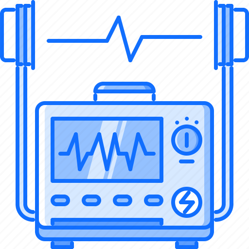 cardiogram, defibrillator, disease, hospital, medicine, pulse, treatment icon