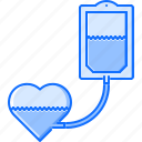 blood, disease, heart, hospital, medicine, transfusion, treatment icon