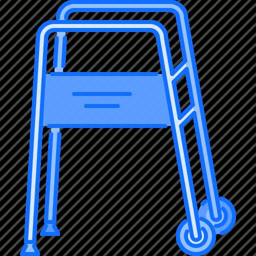 carts, disabled, disease, go, hospital, medicine, treatment icon