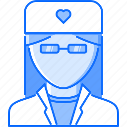 disease, doctor, glasses, gown, hospital, medicine, treatment icon
