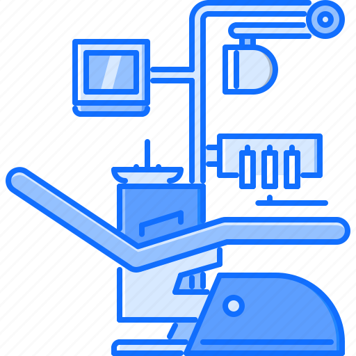chair, dental, disease, hospital, medicine, treatment icon