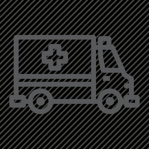 ambulance, car, emergency, help, hospital, medicine, transport icon
