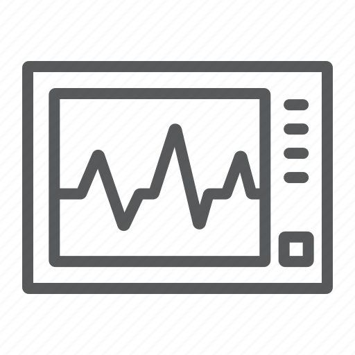 cardiology, ecg, ekg, heartbeat, machine, medicine, pulse icon