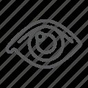 anatomy, eye, human, ophthalmology, organ, see, view icon