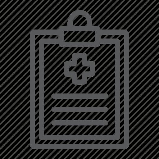 clipboard, diagnosis, hospital, medical, medicine, record, report icon