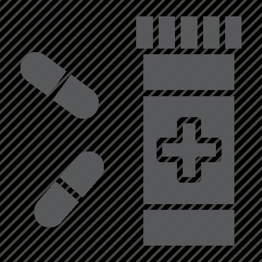 addiction, bottle, capsule, medicine, pharmacy, pill, tablet icon