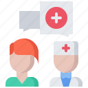 consultation, doctor, medical, medicine, pharmacy, treatment icon