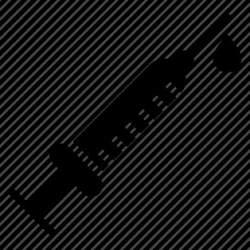 hypodermic, hypodermic needle, injection, medical syringe, plastic syringe icon