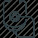 medicine, stethoscope icon