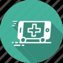 ambulance, emergency, medical, phone, vehical icon