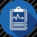 analytics, beat, checklist, diagram, ecg, heartbeat, medical icon