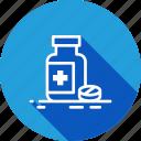 care, drugs, health, jar, medical icon