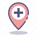 hospital, medical, navigation, pharmacy icon