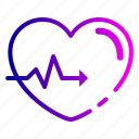 beat, care, gesture, heart, heartbeat, love icon