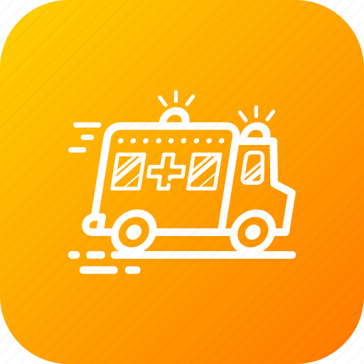 ambulance, emergency, medical, vehical icon