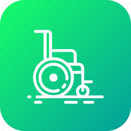 chair, disabled, hospital, wheelchair icon