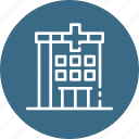 building, care, health, hospital, meadical icon