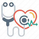 doctor, heartbeat, medical, stethoscope, tool icon