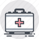 box, drugs, first, help, medical, pills icon