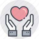 beat, care, gestur, hand, heart, heartbeat icon